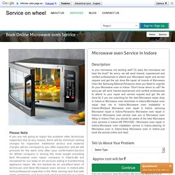 Online Microwave Repair Services In Indore
