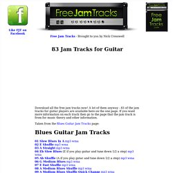 83 Jam Tracks For Guitar