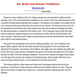 84. Bride and Groom Traditions