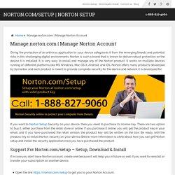 Manage Norton Account