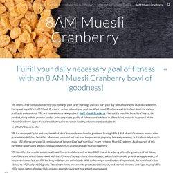 8AM Muesli Cranberry