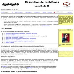 8D Resolution de problèmes