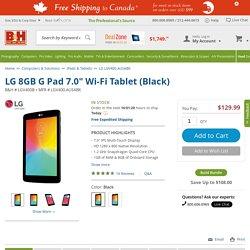 """LG 8GB G Pad 7.0"""" Wi-Fi Tablet (Black) LGV400.AUSABK B&H"""