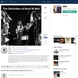 The Definition of Rock N' Roll | JWar | 500+ likes | 3,100