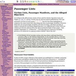 Passenger Lists - CometBird