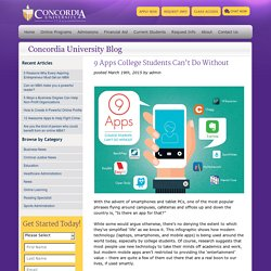 9 Apps for College Students