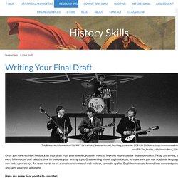 9. Final Draft - History Skills