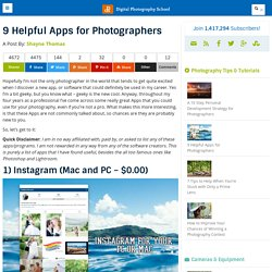 9 Helpful Apps for Photographers