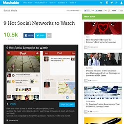 9 Hot Social Networks to Watch Mashable 9 Hot Social Networks to Watch