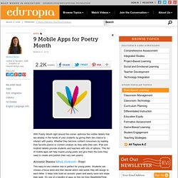 9 Mobile Apps for Poetry Month