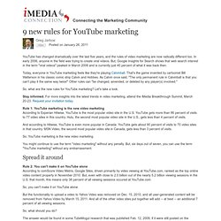 Print Article: 9 new rules for YouTube marketing