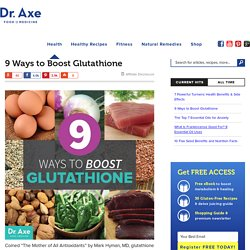9 Ways to Boost Glutathione