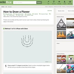 How to Draw a Flower: 18 Steps