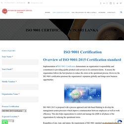 ISO 9001 Certification in Srilanka