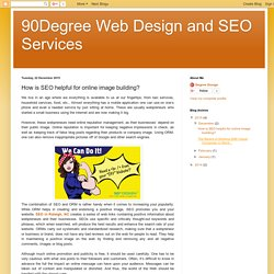 90Degree Web Design and SEO Services: How is SEO helpful for online image building?