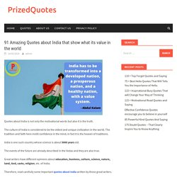 91 Amazing Quotes about India