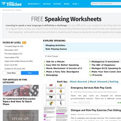 747 FREE Speaking Worksheets