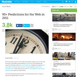 95+ Predictions for the Web in 2011