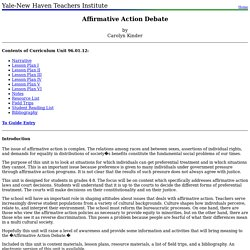 96.01.12: Affirmative Action Debate