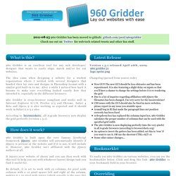 960 Gridder - Lay out websites with ease.