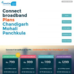 9653053624, Connect Broadband Plans Chandigarh