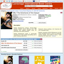 OBL1 The Adventures of Tom Sawyer - 9780194789004 - Cambridge International Book Centre - Specialist Booksellers for Learning English - EFL / ELT / ESL / EAL / ESOL / TEFL / TESOL Books