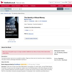 The Identity of Blood Money by Mzondi Lungu: 9781780880280 Paperback - AbeBooks.co.uk