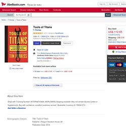 Tools of Titans by T. Ferriss: Penguin Random House UK 9781785041273 Paperback - Books Express