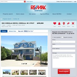 983 Corolla Drive Corolla, NC 27927 For Sale - RE/MAX