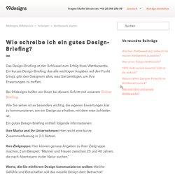 Wie schreibe ich ein gutes Design-Briefing? – 99designs Hilfebereich