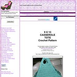 9x13 Casserole Tote Crochet Pattern