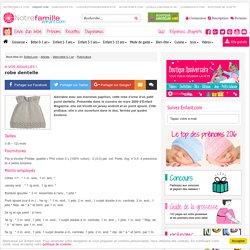 A vos aiguilles !: robe dentelle