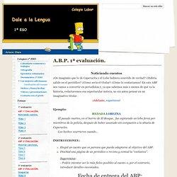 A.B.P. 1ª evaluación. - Dale a la Lengua