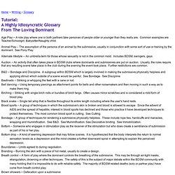 A BDSM Glossary