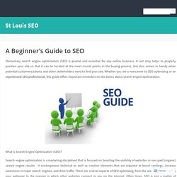A Beginner's Guide to SEO – St Louis SEO