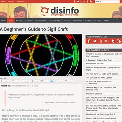 A Beginner's Guide to Sigil Craft