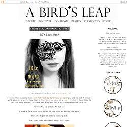DIY Lace Mask
