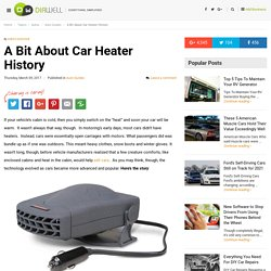 A Bit About Car Heater History