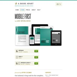 A Book Apart, Mobile First