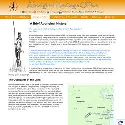 A Brief Aboriginal History