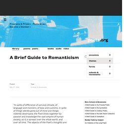 A Brief Guide to Romanticism