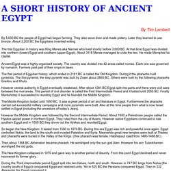 A Brief History of Ancient Egypt