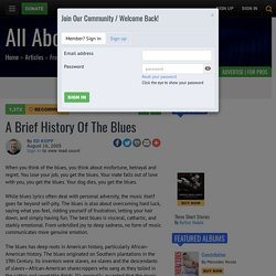 A Brief History of the Blues