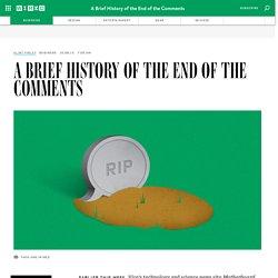 La petite histoire de la fin des commentaires