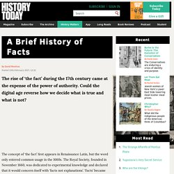 A Brief History of Facts