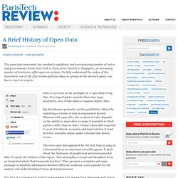 A Brief History of Open Data