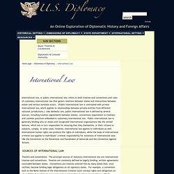 A Brief History of U.S. Diplomacy