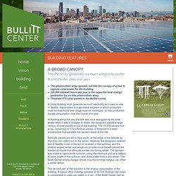 Overhanging Solar Panels - Bullitt Center