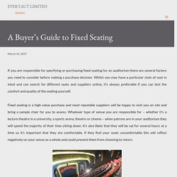 A Buyer's Guide to Fixed Seating