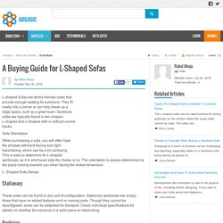 A Buying Guide for L-Shaped Sofas